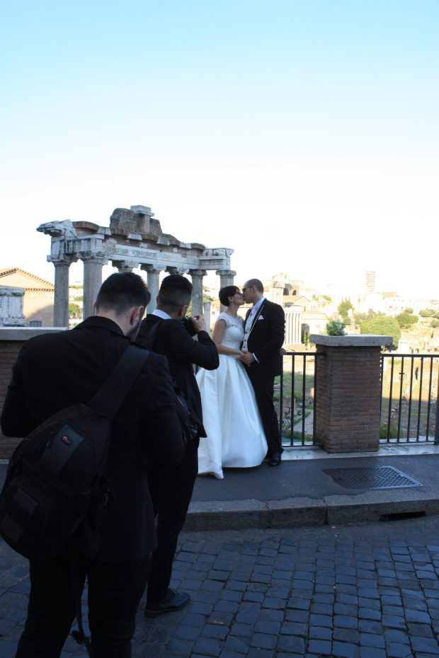 Photo de mariage au Foro Romano