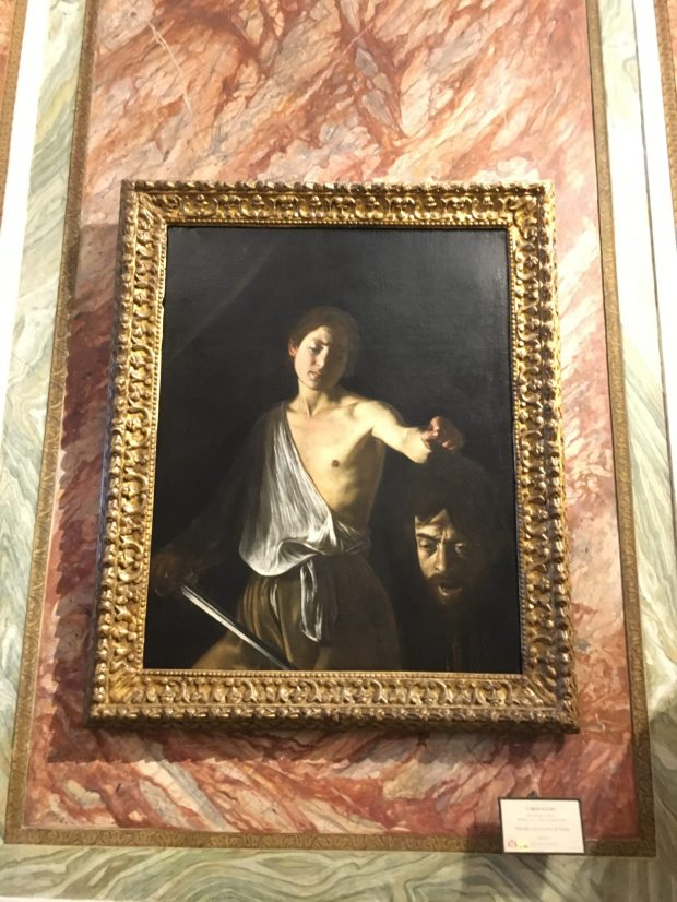 David et la tête de Goliath, du Caravage